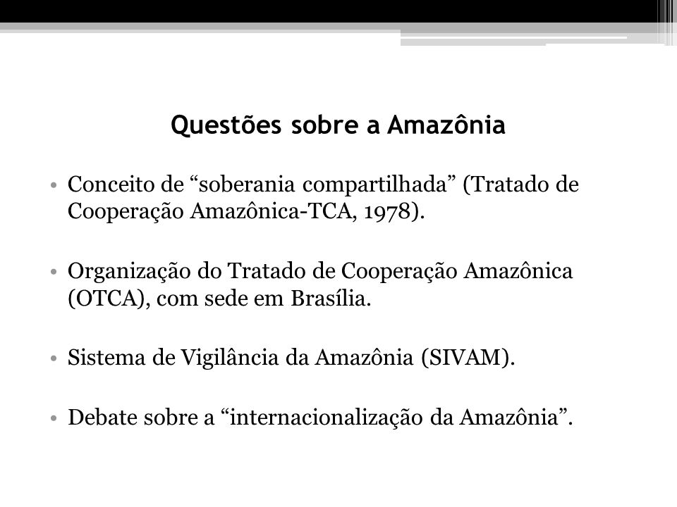Questões sobre a Amazônia