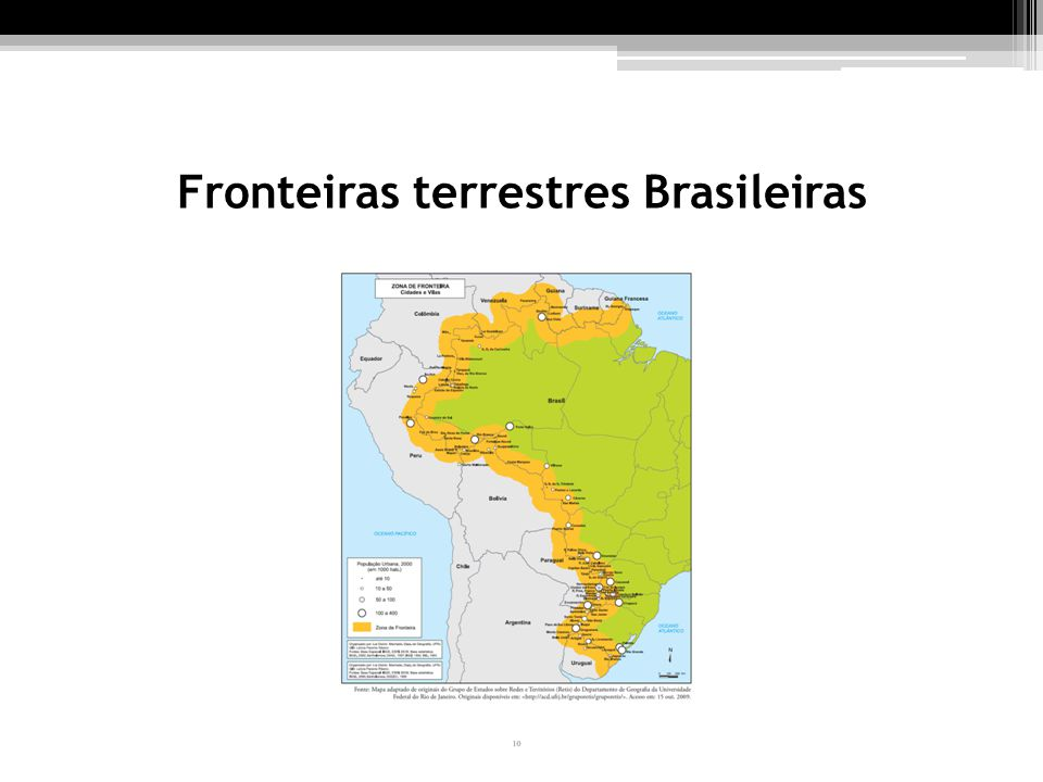 Fronteiras terrestres Brasileiras