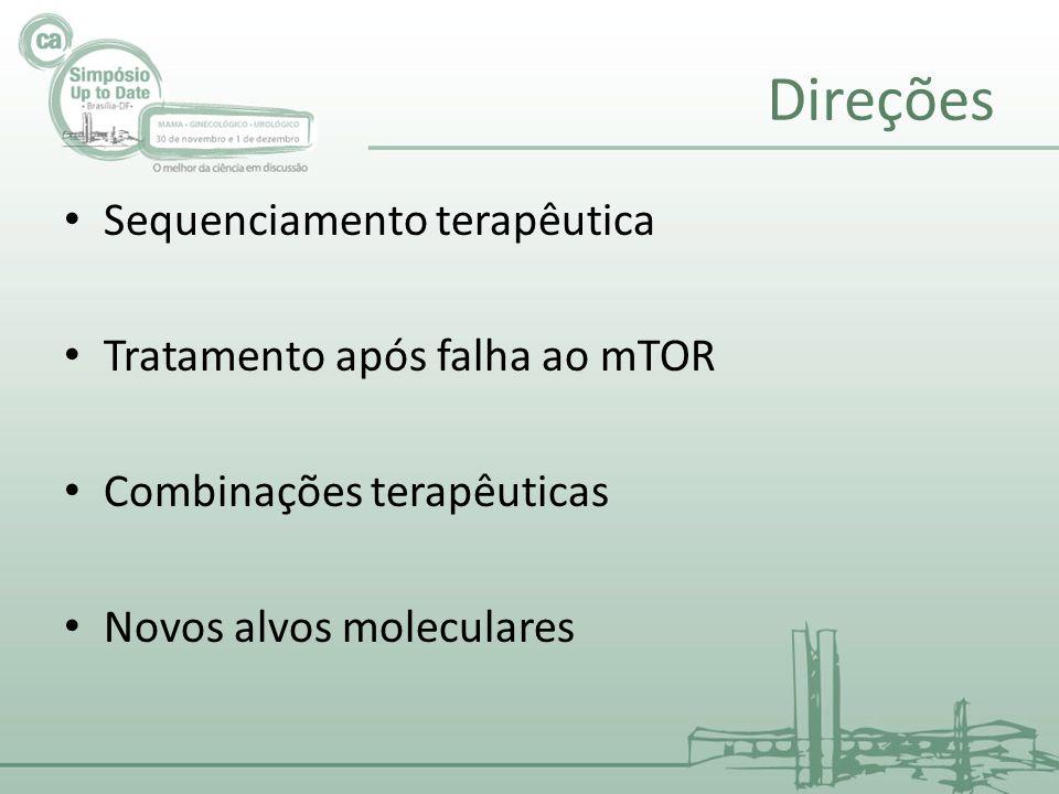 Direções Sequenciamento terapêutica Tratamento após falha ao mTOR
