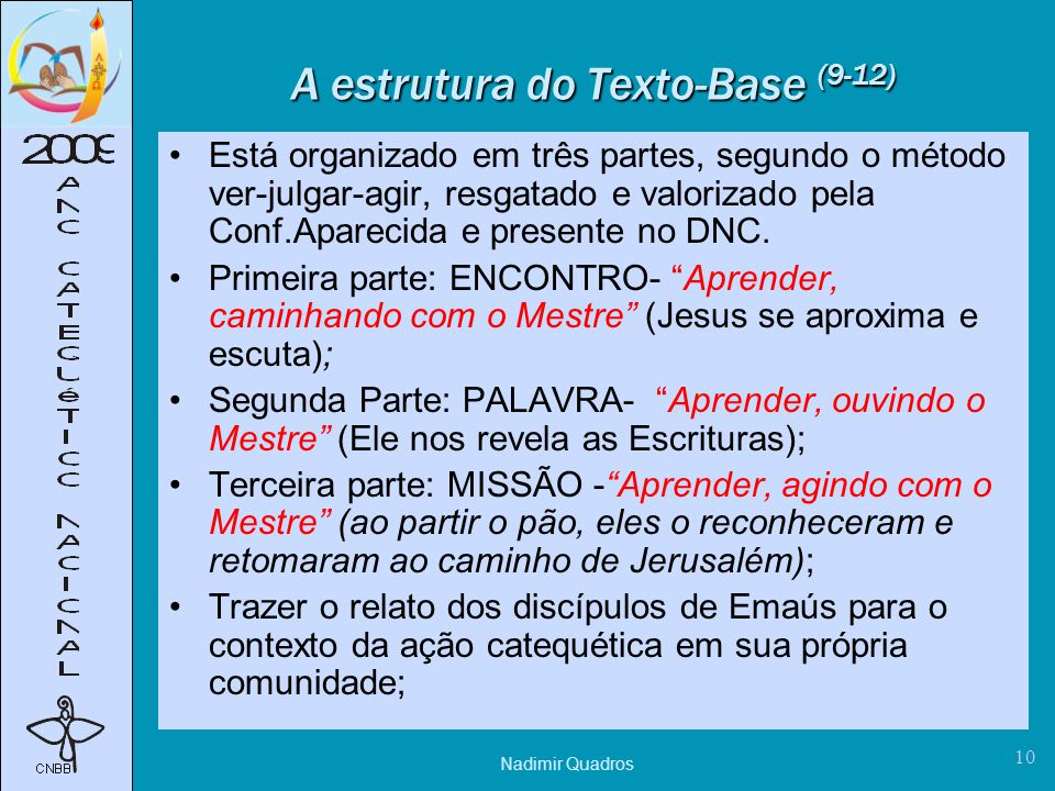 A estrutura do Texto-Base (9-12)
