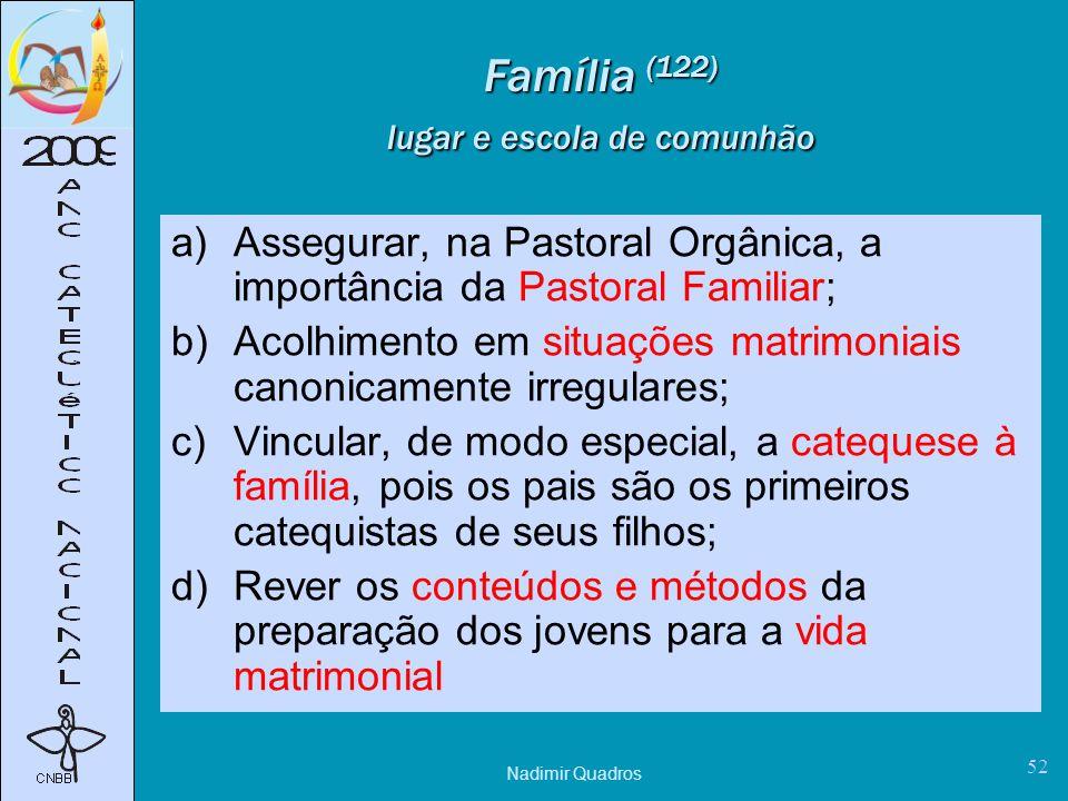 Família (122) lugar e escola de comunhão