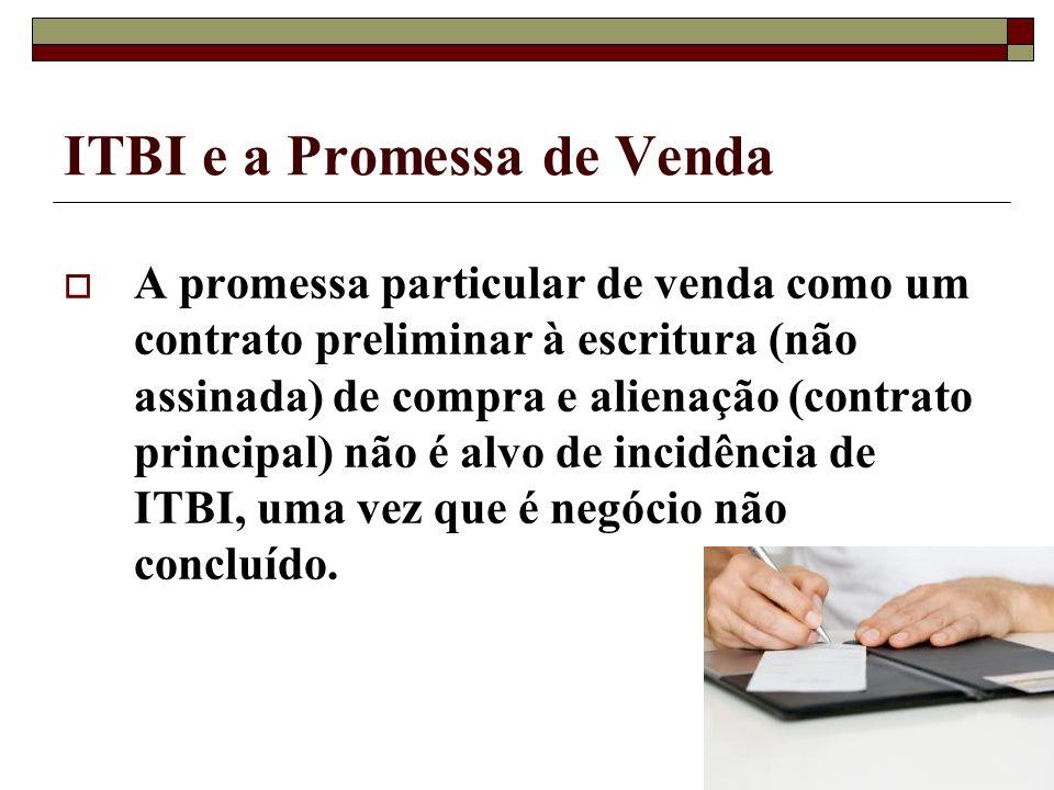 ITBI e a Promessa de Venda