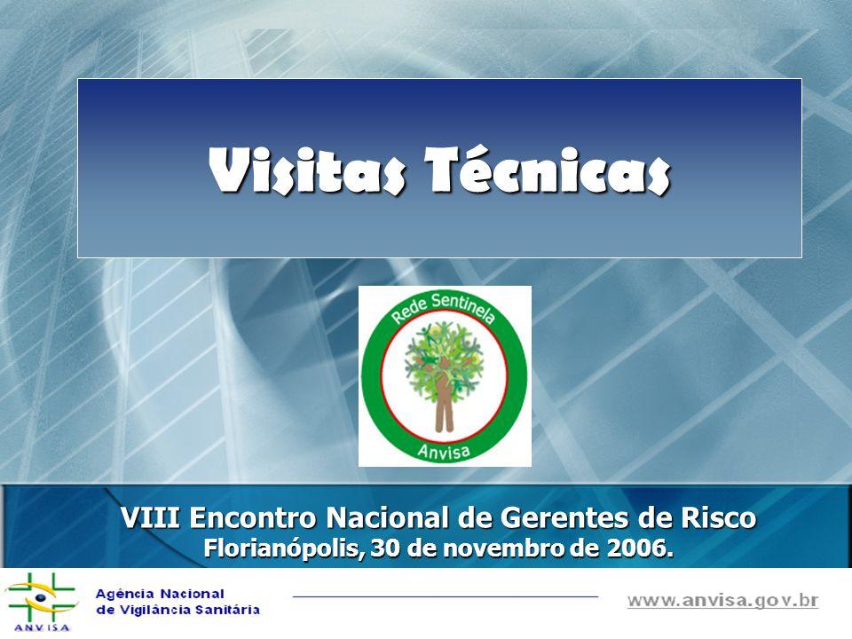 Visitas Técnicas VIII Encontro Nacional de Gerentes de Risco Florianópolis, 30 de novembro de 2006.
