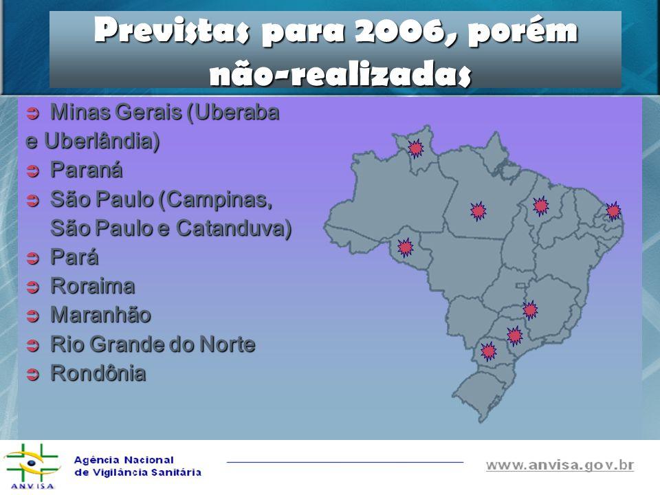 Previstas para 2006, porém não-realizadas