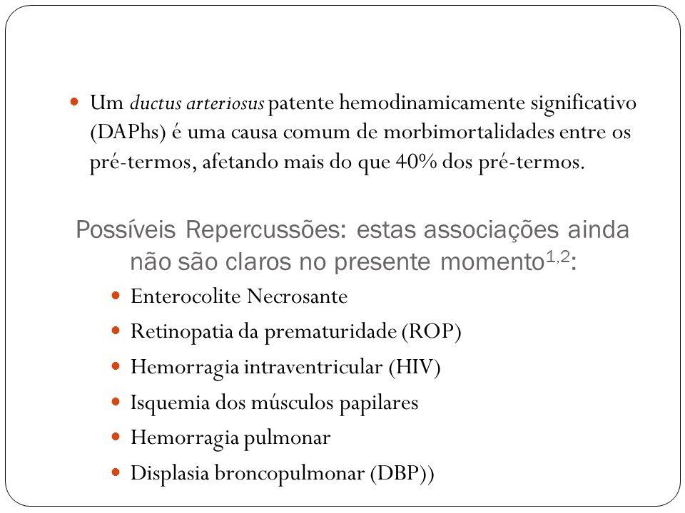 Um ductus arteriosus patente hemodinamicamente significativo (DAPhs) é uma causa comum de morbimortalidades entre os pré-termos, afetando mais do que 40% dos pré-termos.