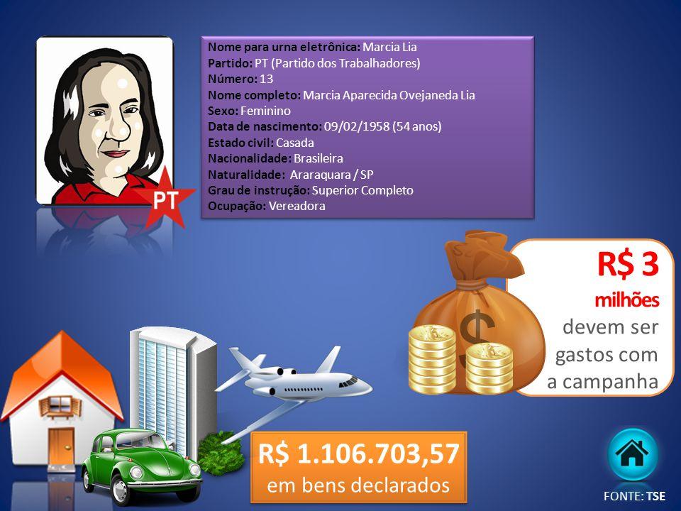 R$ 3 milhões devem ser gastos com a campanha