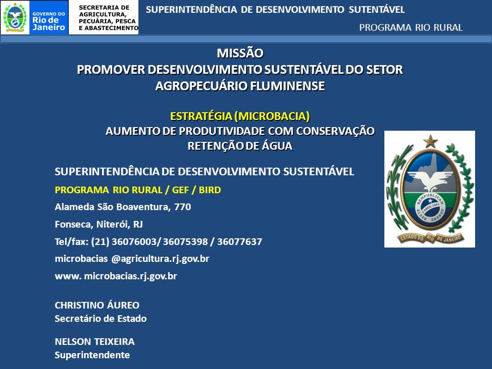 PROMOVER DESENVOLVIMENTO SUSTENTÁVEL DO SETOR AGROPECUÁRIO FLUMINENSE