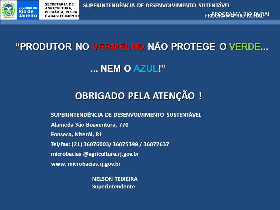 PRODUTOR NO VERMELHO NÃO PROTEGE O VERDE...