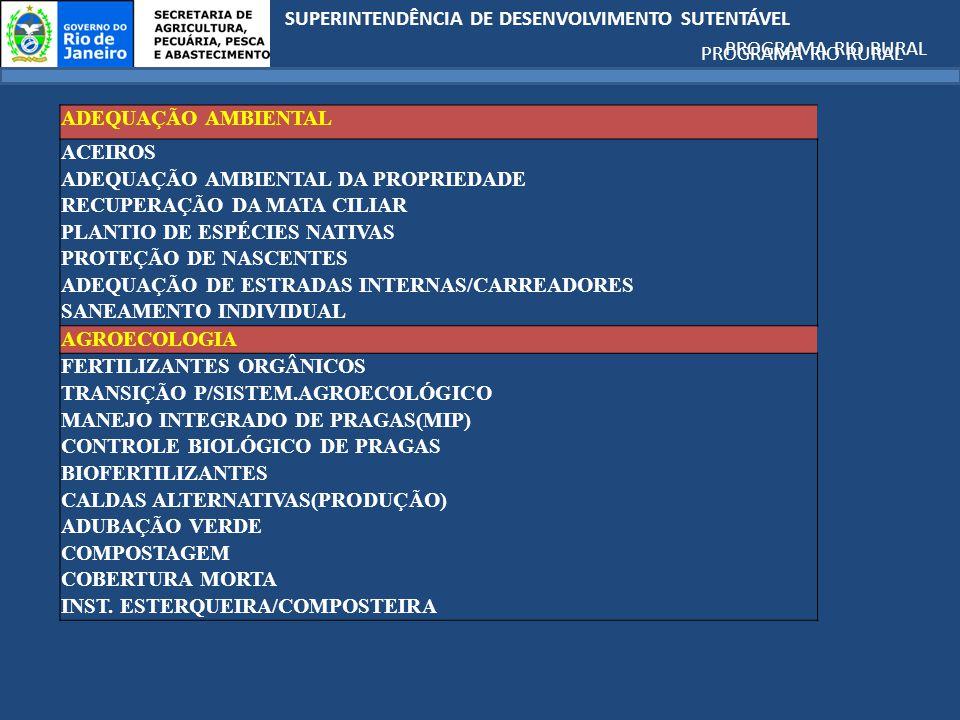 ADEQUAÇÃO AMBIENTAL DA PROPRIEDADE RECUPERAÇÃO DA MATA CILIAR