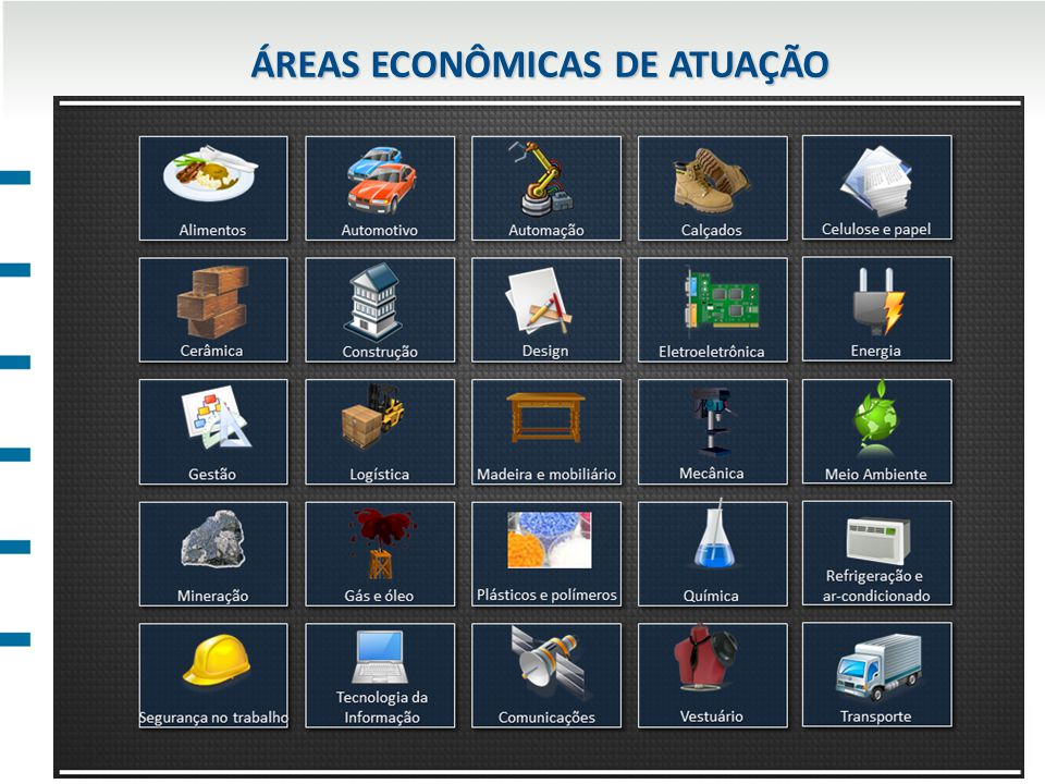 ÁREAS ECONÔMICAS DE ATUAÇÃO