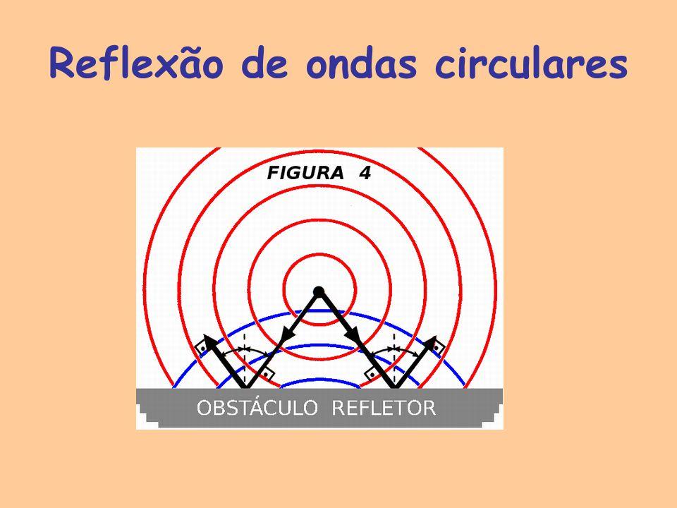Reflexão de ondas circulares