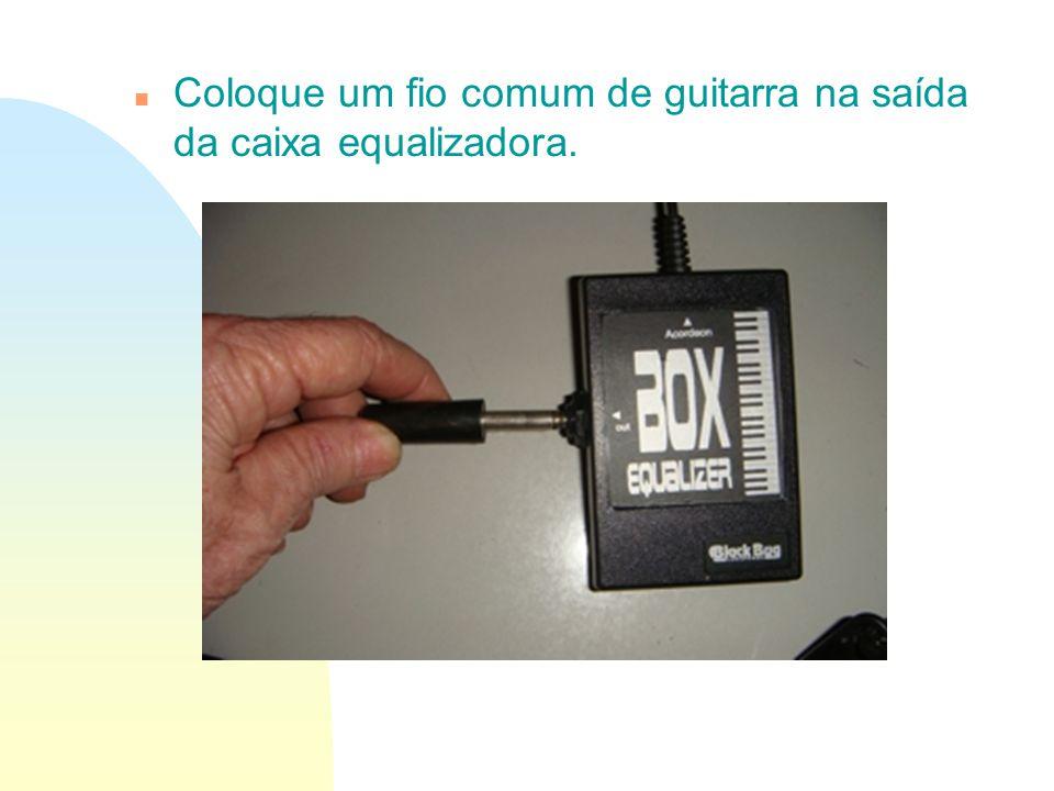 Coloque um fio comum de guitarra na saída da caixa equalizadora.