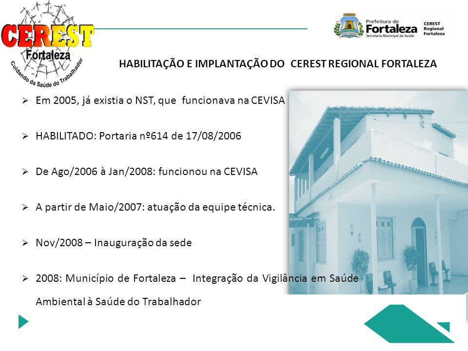 HABILITAÇÃO E IMPLANTAÇÃO DO CEREST REGIONAL FORTALEZA