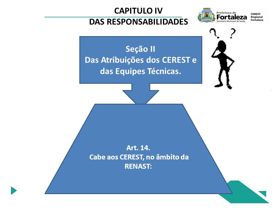 CAPITULO IV DAS RESPONSABILIDADES