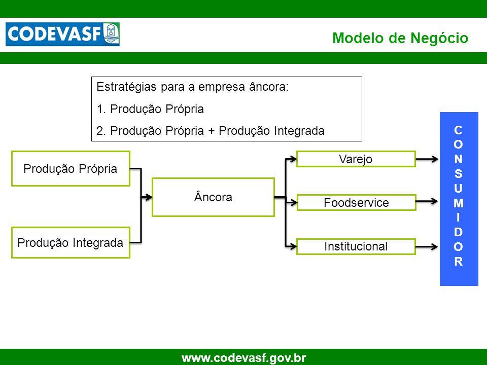 Modelo de Negócio Estratégias para a empresa âncora: Produção Própria