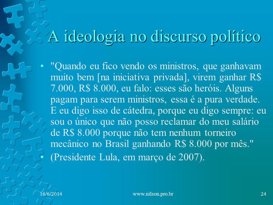 A ideologia no discurso político