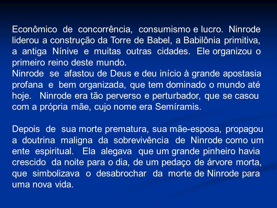 Econômico de concorrência, consumismo e lucro. Ninrode