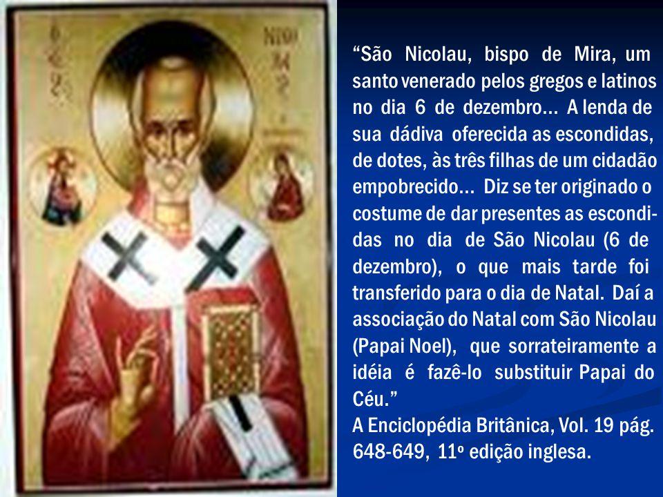 São Nicolau, bispo de Mira, um