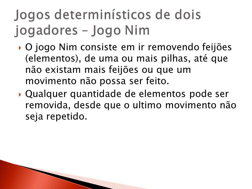 Jogos determinísticos de dois jogadores – Jogo Nim