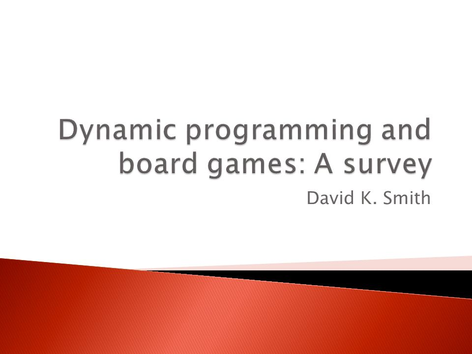 Dynamic programming and board games: A survey