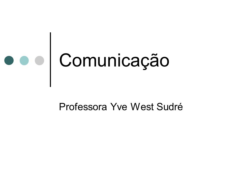 Professora Yve West Sudré
