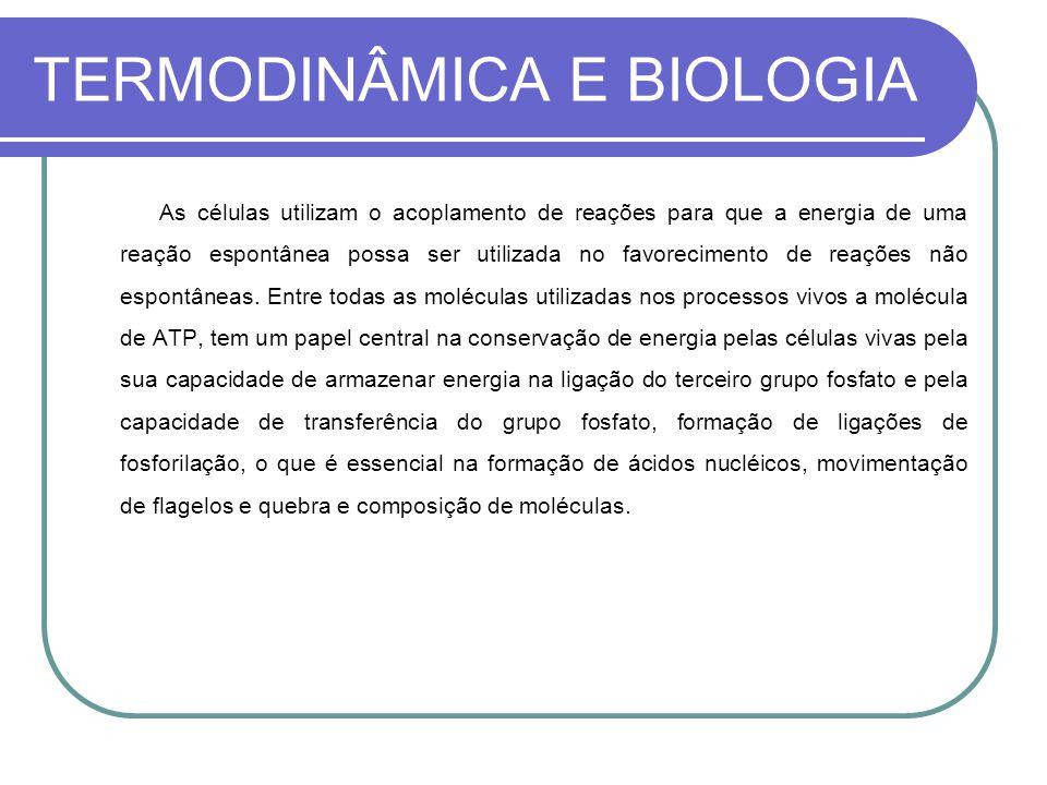 TERMODINÂMICA E BIOLOGIA