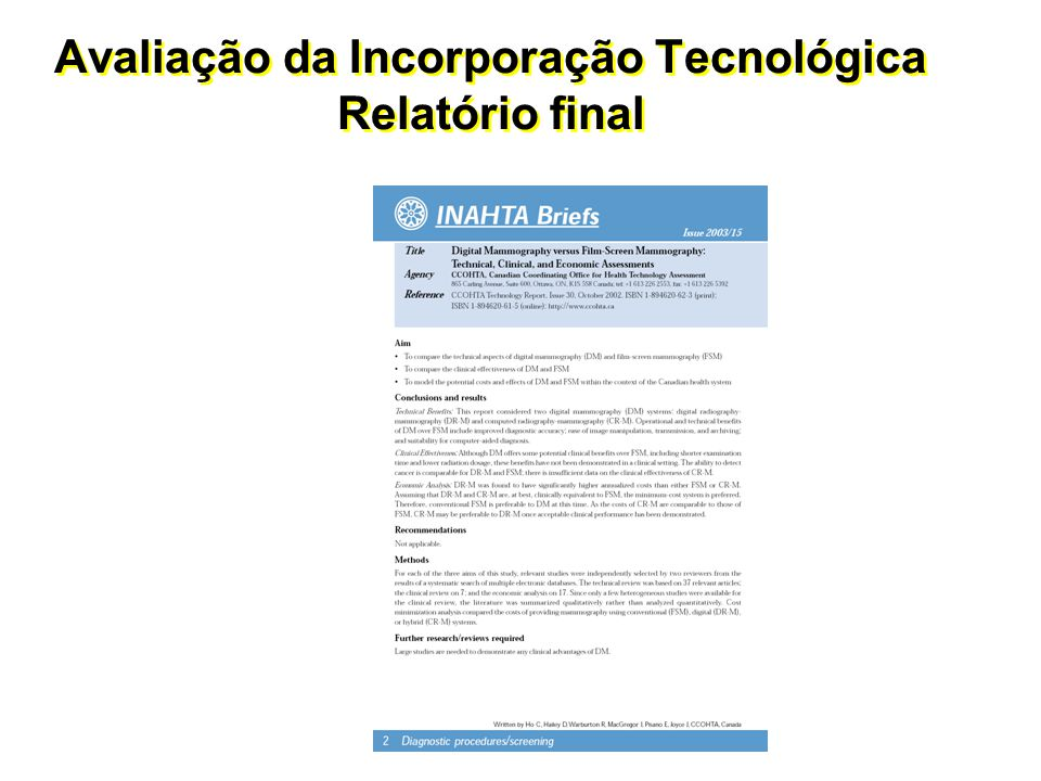 Incorporação de stent farmacológico no Sistema de Saúde Brasileiro