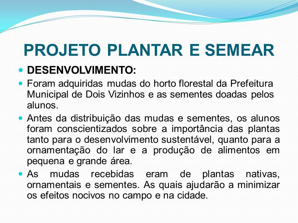 PROJETO PLANTAR E SEMEAR