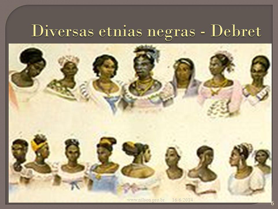 Diversas etnias negras - Debret