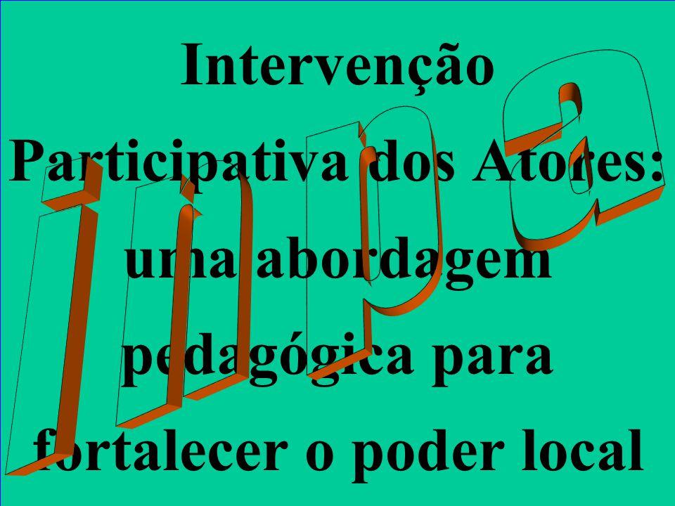 Intervenção Participativa dos Atores: uma abordagem pedagógica para fortalecer o poder local