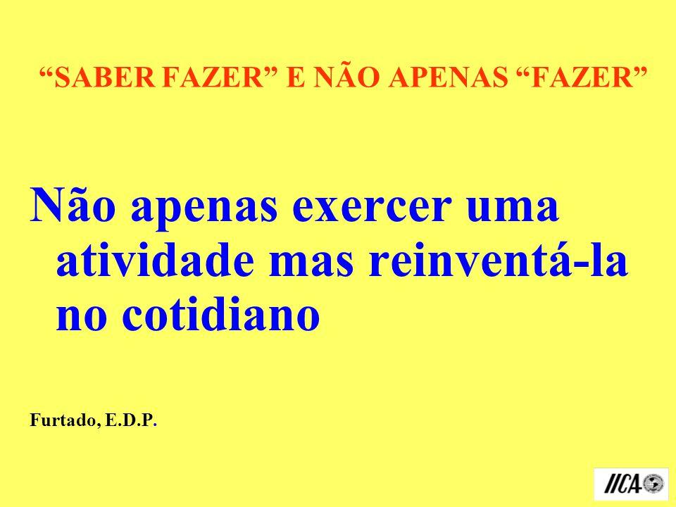 SABER FAZER E NÃO APENAS FAZER