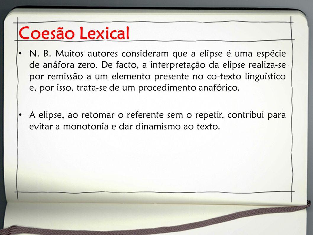 Coesão Lexical