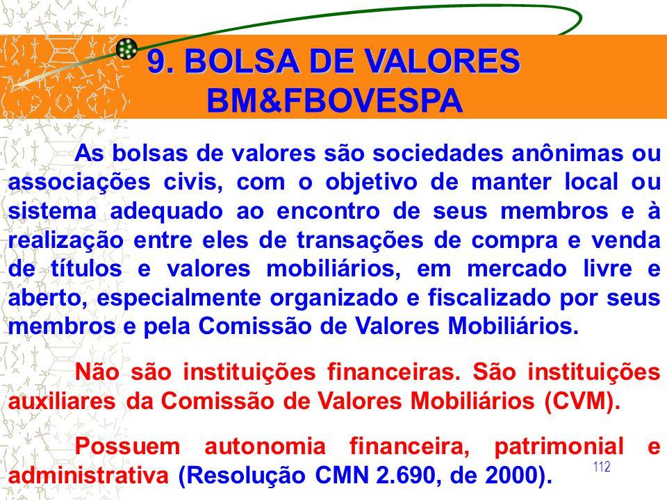 9. BOLSA DE VALORES BM&FBOVESPA