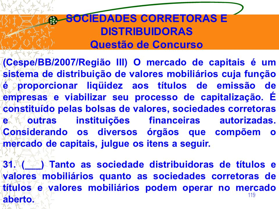 SOCIEDADES CORRETORAS E