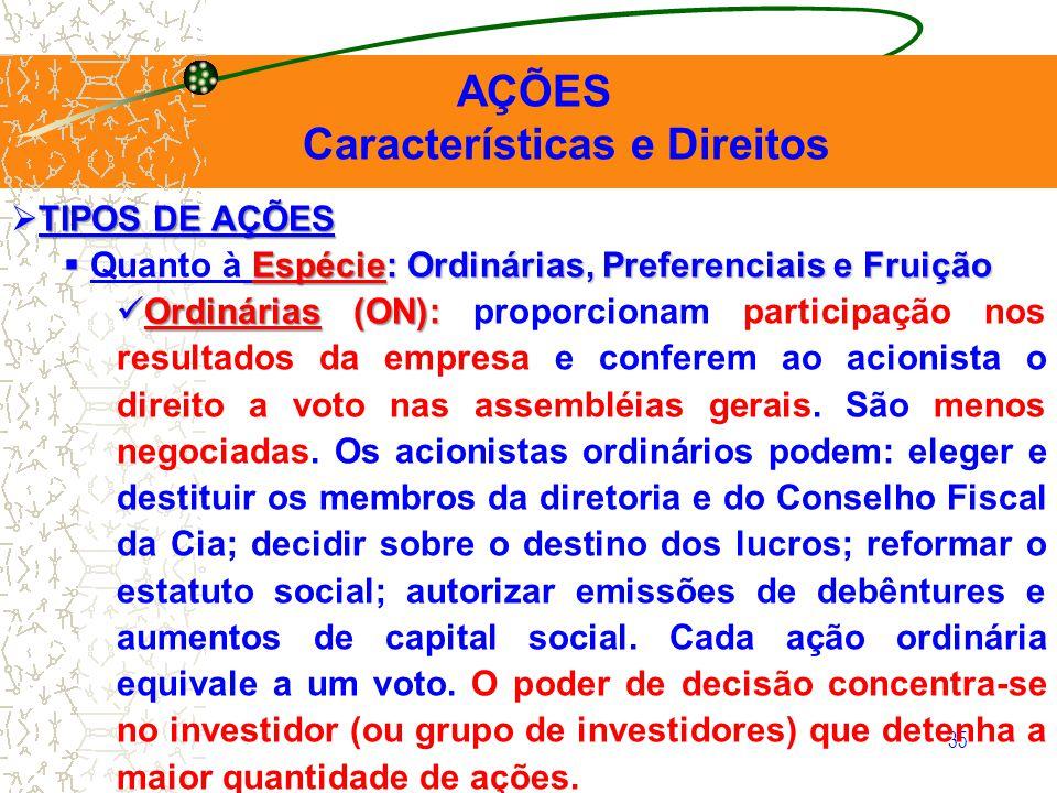 Características e Direitos