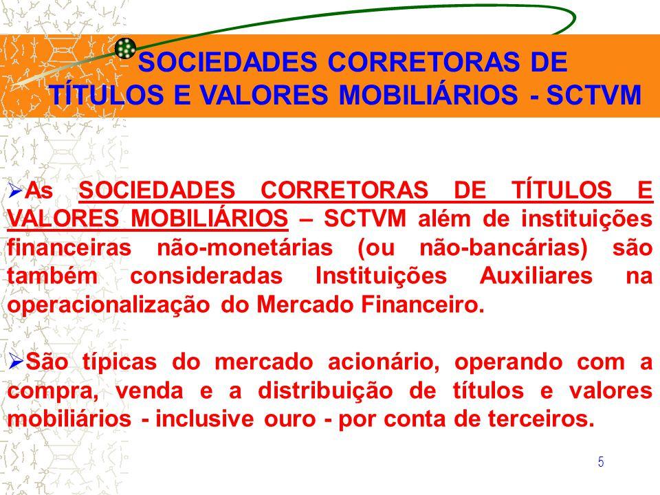 SOCIEDADES CORRETORAS DE TÍTULOS E VALORES MOBILIÁRIOS - SCTVM