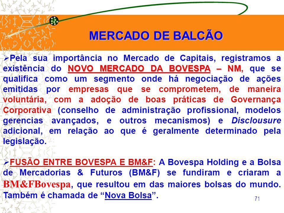 MERCADO DE BALCÃO