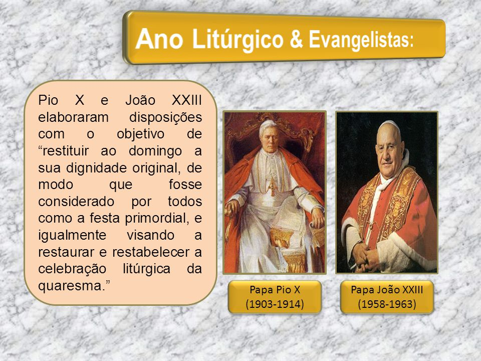 Ano Litúrgico & Evangelistas: