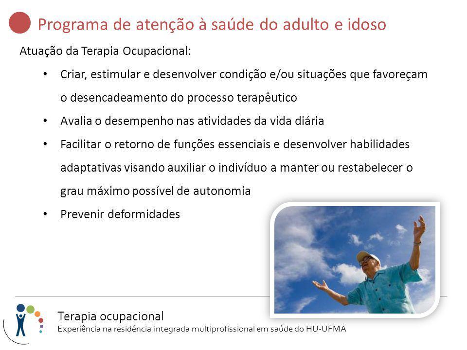 Programa de atenção à saúde do adulto e idoso