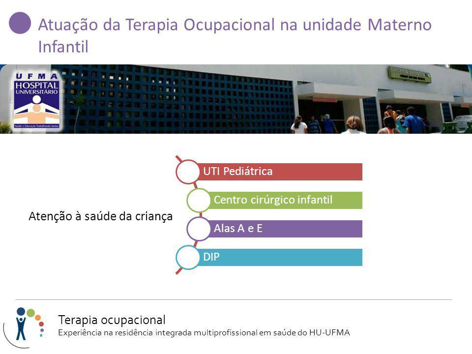 Atuação da Terapia Ocupacional na unidade Materno Infantil