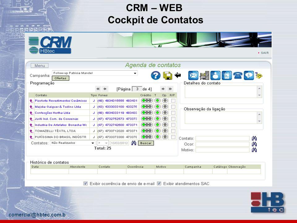 CRM – WEB Cockpit de Contatos