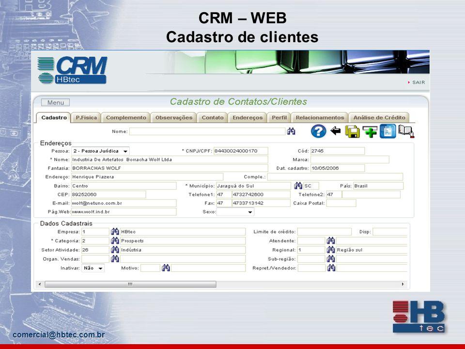 CRM – WEB Cadastro de clientes