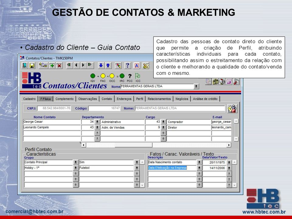 GESTÃO DE CONTATOS & MARKETING