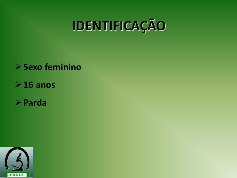 IDENTIFICAÇÃO Sexo feminino 16 anos Parda