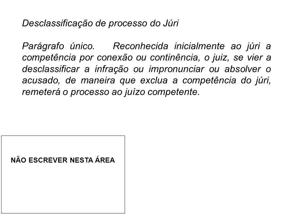 Desclassificação de processo do Júri