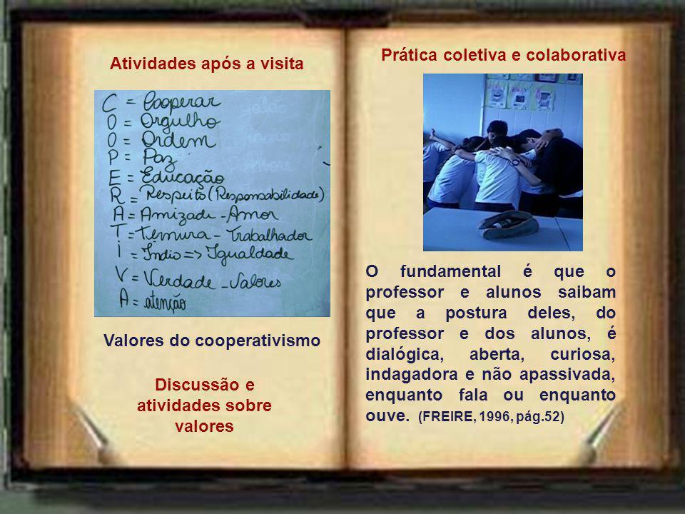 Valores do cooperativismo Discussão e atividades sobre valores