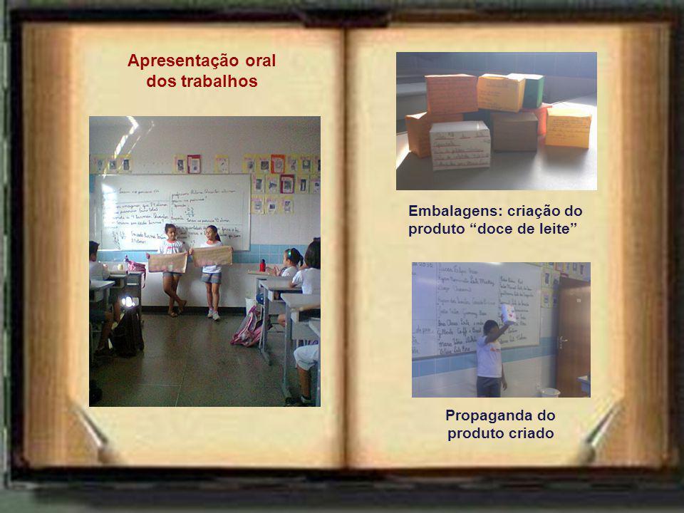 Apresentação oral dos trabalhos Propaganda do produto criado