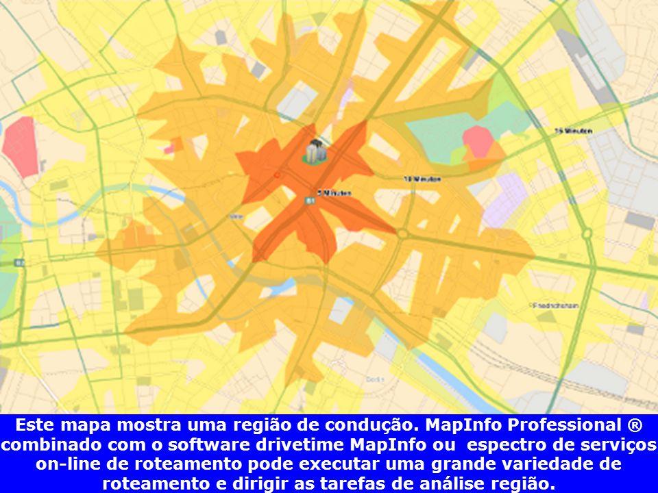 Este mapa mostra uma região de condução