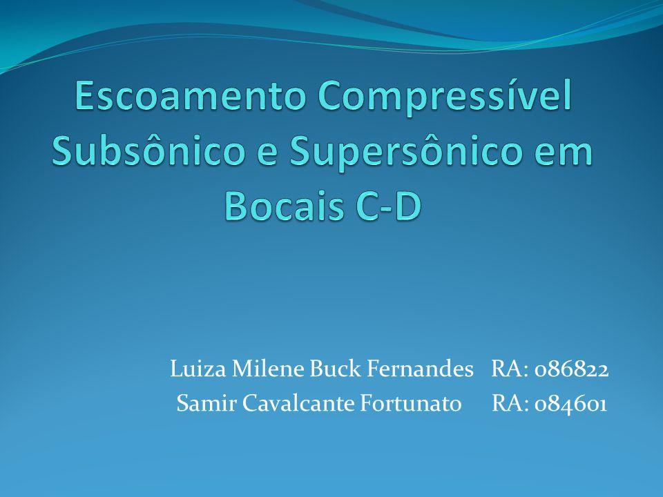 Escoamento Compressível Subsônico e Supersônico em Bocais C-D
