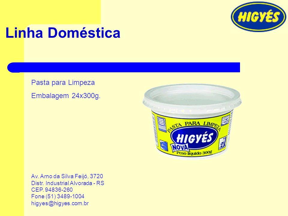 Linha Doméstica Pasta para Limpeza Embalagem 24x300g.